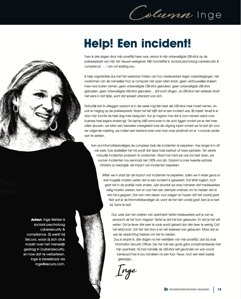 Help! Een incident!