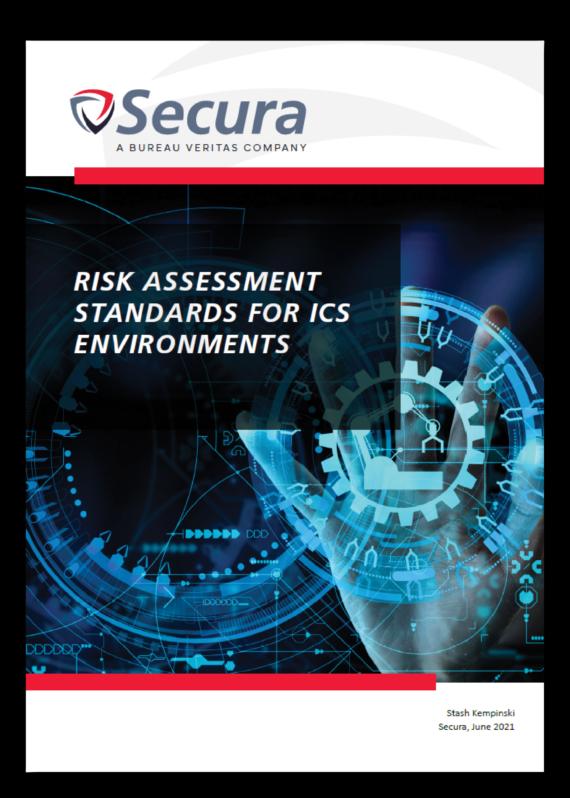 White paper thumbnail Risk Assessment for ICS